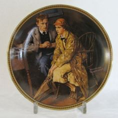 """Norman Rockwell Knowles Plate """"Confiding in the Den"""" - Flotsam from Michigan  - 1"""