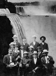 "The Niagara Movement was a black civil rights organization founded in 1905 by a W.E.B. Du Bois and William Monroe Trotter. It was named for the ""mighty current"" of change the group wanted to effect, and the inaugural meeting in 1905 was held on the Canadian side of Niagara Falls (because hotels in NY would not accommodate a black group). It became the nucleus of the NAACP, founded in 1909, and the original group disbanded in 1910."