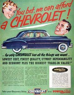 1952 Classic Chevrolet - Vintage Car Advertisements