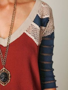 Love the primary palette and flirty eyelet on the shoulders and arms  ~WB