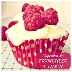 cupcakes de limon y frambuesa
