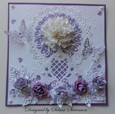Selma's Stamping Corner: Marianne Designs - The flowers and some of the other elements could be quilled.