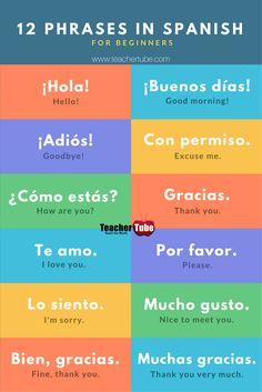 12 Phrases In #Spanish. http://www.teachertube.com
