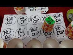 KITTY GAME Full cup,Half cup,No cup masti (No matching new twist ke sath Ladies Kitty Party Games, Kitty Party Themes, Kitty Games, Cat Party, 1 Min Games, One Minute Games, Cup Games, Indian Birthday Parties, Birthday Party Games For Kids