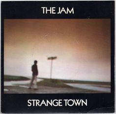 """The Jam - Strange Town, 7"""" vinyl single, c.1979, new wave, mod revival, Paul Weller #vinyl"""