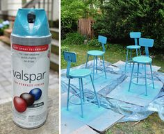 Gonna give it a go with new outdoor metal table & chairs! ~ spray painting metal furniture
