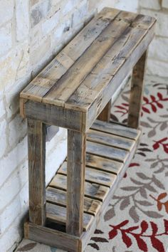 "36 ""Lamellenkonsole # Lamellenkonsole – Holz DIY Ideen – Famous Last Words Wooden Pallet Projects, Wooden Pallet Furniture, Woodworking Projects Diy, Rustic Furniture, Wood Pallets, Furniture Ideas, Woodworking Tools, Pallet Wood, Furniture Design"