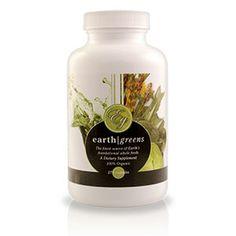 Essante Organics Earth Greens capsules. 5.5 pounds of  organic, whole food vegetation per serving. http://essanteorganics.com/healthychoices4u
