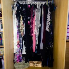 My floordrobe wasn't working for me so spent the morning organising my wardrobe from party dresses to day dresses trousers skirts cardigans jumpers then shirts and extra hangers! Nice and organised now! #bblogger