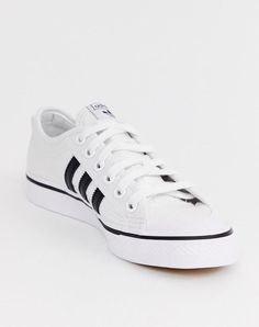 new arrival df366 08d83 adidas Originals White and black Nizza Sneakers   Clothing, Shoes  amp   Accessories, Women s