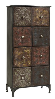 Eight Drawer Metal Cabinet Upcycled Furniture, Painted Furniture, Interior Garden, Interior Design, Decoration Baroque, Library Study Room, Industrial, Komodo, Furniture Inspiration
