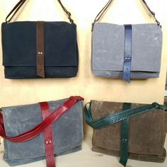 e823f5c546 Sloane Waxed Canvas Messenger Bags in assorted colors. Choose the one that  suits your style