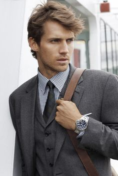 Classic Three-piece Grey Suit