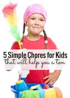Five simple chores for kids that will actually help you a ton! My floors have never been cleaner - and the laundry tip changed our lives!