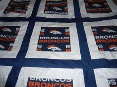 Denver Broncos Baby Quilt  38 X 38 by wildincolorado on Etsy