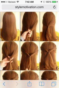 Cute Everyday Hair Style!! Sinple And Easy #Fashion #Beauty #Trusper #Tip