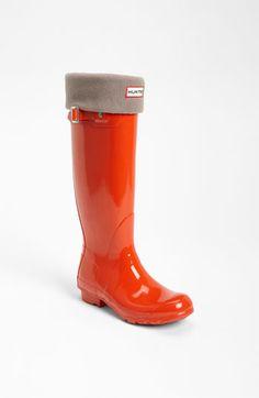 Hunter Tall Gloss Rain Boot & Welly Socks | Nordstrom