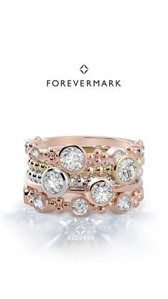 The Forevermark Tribute™ Collection pays tribute to what makes her the incredible woman she is. The multiple diamonds represent her unique qualities – her independence, her tenderness, her determination, her passion – her individual style, and the depth of her personality.