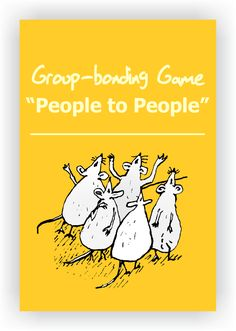 """FREE DRAMA GAME~ People to People~Have players scattered around the room milling about. When the leader calls out """"People to People!"""" players must immediately find one other person. Next, the leader calls out two body parts such as """"nose to knee."""" The players must connect one person's nose to the other person's knee. Read more...  https://www.dramanotebook.com/drama-games/people-to-people/"""