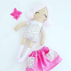 Cloth doll, rag doll,  fabric doll Made.By.Syl