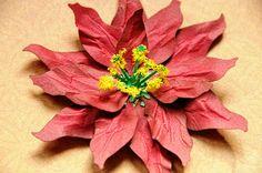 What A Beautiful Mess: Pointsettia Flower Tutorial