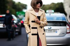 American Vogue's  editor-in-chief Anna Wintour arriving at Louis Vuitton fashion show in Paris