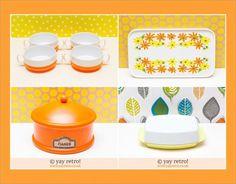 Summer Orange & Yellow Vintage Kitchen & Camperware at yay retro! - Retro, Vintage China, Glassware, Kitchenalia, fabrics and books - yay retro!
