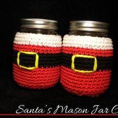 Santa's Mason Jar Cozy Croc..