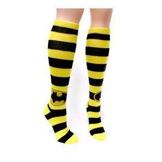 Amazon.com: Batman Logo Stripes Knee High Socks: Clothing