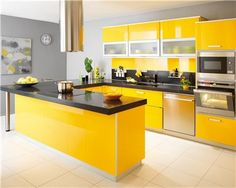 Yellow Kitchen Color Ideas if your kitchen cabinets are in good shape, painting them is an