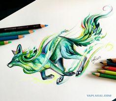 Рисунки карандашом и фломастером