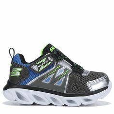39ece6428ed58 Skechers Kids' Hypno-Flash 3.0 Light Up Sneaker Toddler Shoes (Silver/Black