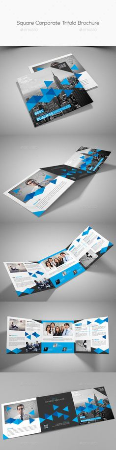 Square Corporate Tri Fold Brochure Brochures Tri Fold Brochure