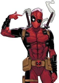 """Deadpool: Did my finger just fire?"""" Deadpool's voice in his head: Should we call somebody?""""] (""""HELP SOMEBODY!"""") Deadpool: That is kind of awesome"""" Me: HOW! I want that power! Comic Book Characters, Comic Character, Comic Books Art, Comic Art, Deadpool Kawaii, Deadpool Chibi, Hq Marvel, Marvel Dc Comics, Marvel Heroes"""