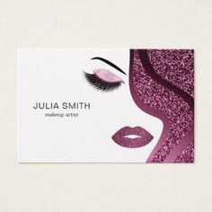 Makeup artist business card with glitter effect - makeup artist gifts style stylish unique custom stylist Lip Logo, Eyelash Logo, Makeup Artist Logo, Make Up Tutorials, Makeup Tutorial Foundation, Makeup Artist Business Cards, Beauty Logo, Business Card Design, Marie