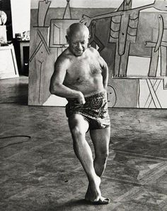 Picasso by David Douglas Duncan. S) I know i know he was great ..but a f  king male as hole to women he knew and those he didn't know...but they worshipped him anyway ...go figure.