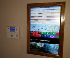 In this Instructable I'll be turning on old flat screen TV in to a wood framed digital Wall Mounted Calendar and Home Information Center powered by a Raspberry Pi.The goal was to have at a glance access to pertinent information for all members of the family, replace the static paper wall calendar and provide even more useful real-time information then a paper calendar ever could. The features it includes are: A monthly calendar synced with 6 family members as well as the calendars for the...