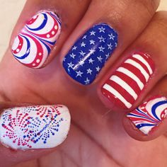 My 4th of July Nails.