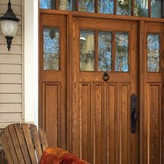 Lemieux-Le_Palais_Exterior_door Love this front door Love his front door and the glass panel above & Lemieux Door Company offers Torrefied wood as an option for their ...