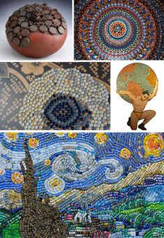 Bottle Caps: 31 Reasons To Create Gorgeous Recycled Crafts Bottle Cap Projects, Bottle Cap Crafts, Diy Bottle, Beer Bottle, Beer Cap Art, Beer Caps, Bottle Top Art, Garrafa Diy, Beer Cap Crafts