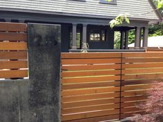 Concrete Retaining Wall with Gate