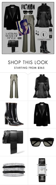 """""""A strong sense of style"""" by zabead ❤ liked on Polyvore featuring Just Cavalli, Beaufille, Vetements, Yves Saint Laurent, Prada, Effy Jewelry, Hermès and Oscar de la Renta"""