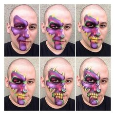 Simple face painting designs are not hard. Many people think that in order to have a great face painting creation, they have to use complex designs, rather then Monster Face Painting, Dragon Face Painting, Face Painting For Boys, Skull Painting, Face Painting Tutorials, Face Painting Designs, Halloween Face Paint Designs, Fantasy Make Up, Kids Makeup