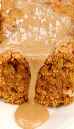 Salted Caramel Pumpkin Bars  #pumpkin #desserts #recipes