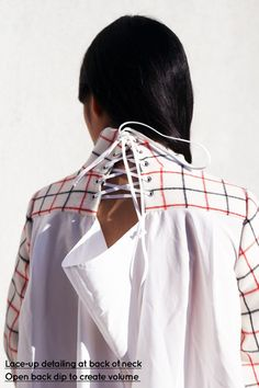 Susie Bubble takes an anatomical look at the details within the Sacai S/S 14 collection, great back-neck detailing