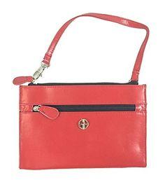 Giani Bernini Women's Recycled Leather Wristlet Red