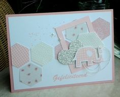 Hexagon baby kaartje