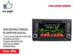 Τώρα το αυτοκίνητο σου έχει ο,το χρειάζεται! 😁😁  ☎️ 2315534103 📱6978976591 ➡️ ΠΟΛΥΤΕΧΝΙΟΥ 18 ΕΥΚΑΡΠΙΑ ΘΕΣΣΑΛΟΝΙΚΗΣ  #carmotodesign #mediaplayer #lcd #multimediaplayer #car Moto Design, Audi A4, Sd Card, Multimedia, Usb