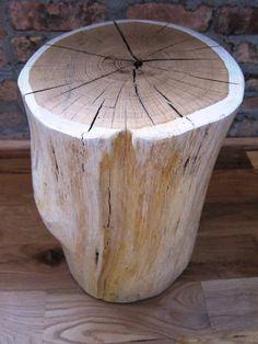 White Tree Stump Side Table I