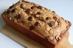 JUST LIFE STYLE™®: Whole Wheat Peanut Butter Banana Bread with Chocolate and Peanut Butter Chips .